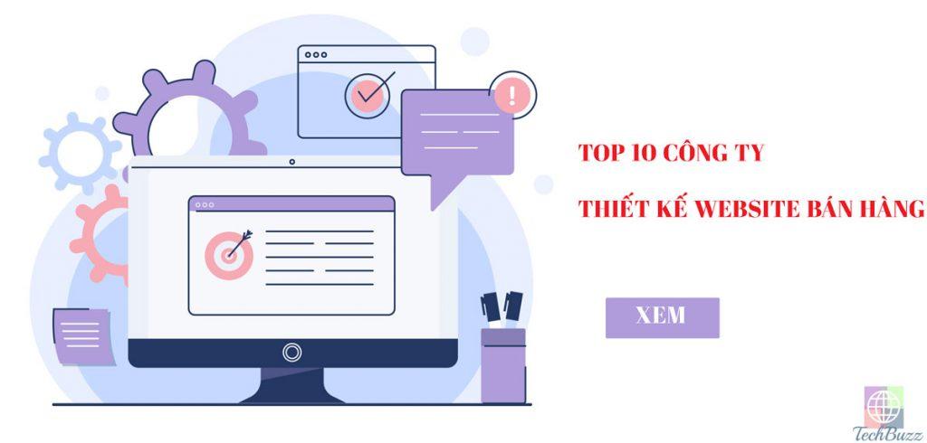 Top 4 công ty thiết kế website bán hàng.