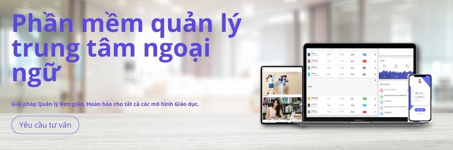 Phần mềm quản lý trung tâm ngoại ngữ Easyedu