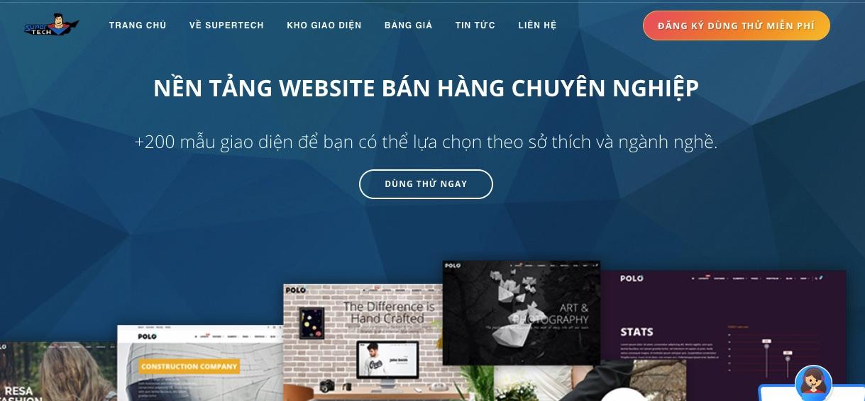 Suppertech - công ty thiết kế website Cà Mau uy tín