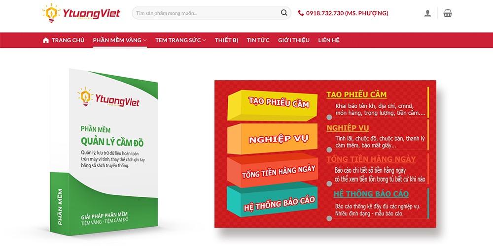 Phần mềm quản lý cầm đồ Ý Tưởng Việt