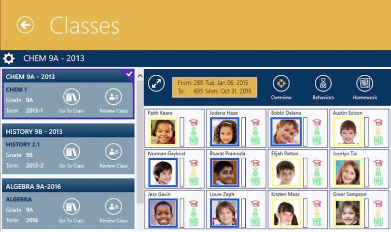 phần mềm quản lý lớp học Classes
