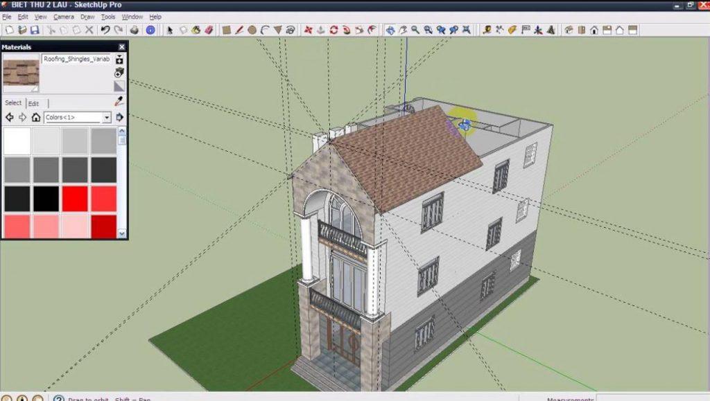 phần mềm thiết kế nhà 3D Sketchup