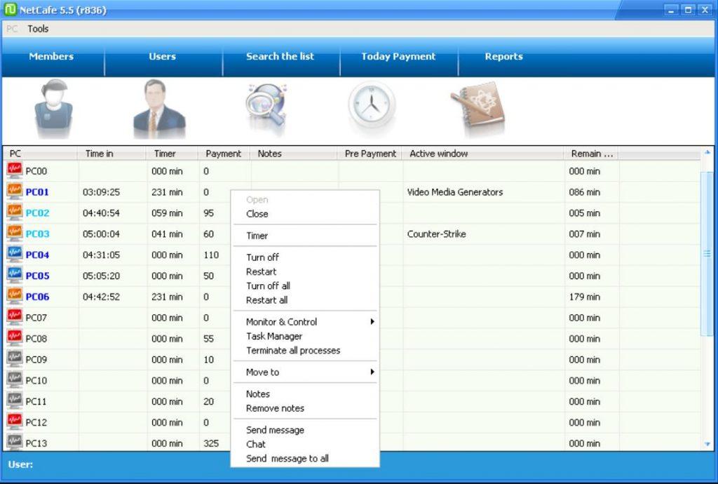 phần mềm quản lý phòng game 4