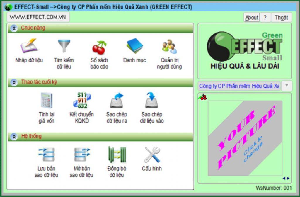 phần mềm kế toán Effect