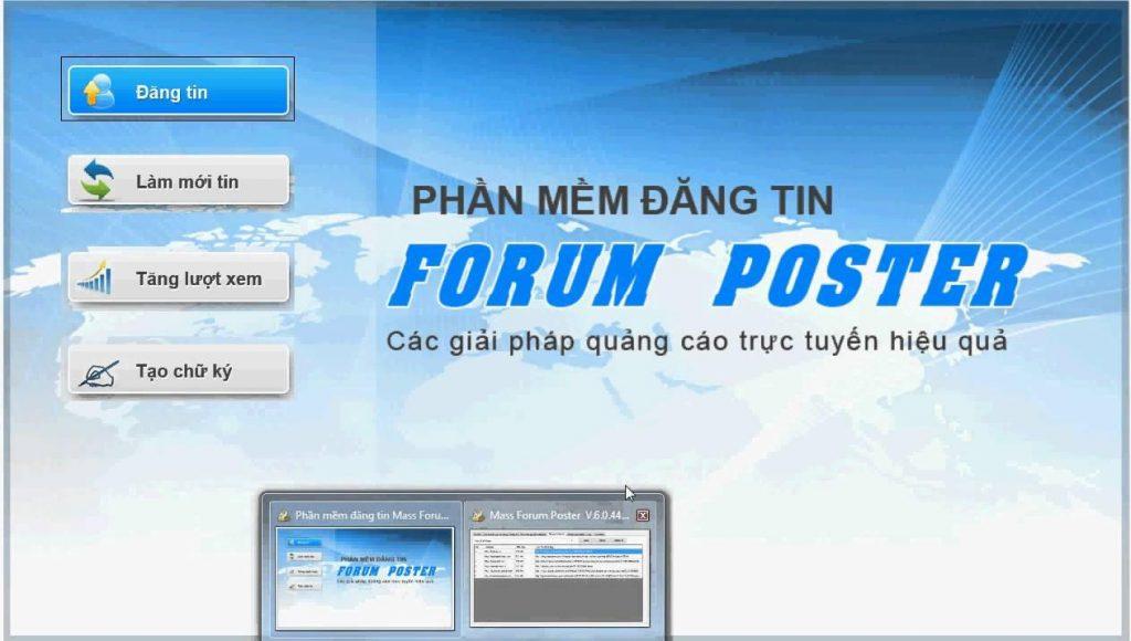 phần mềm quản ly bất động sản Forum Poster