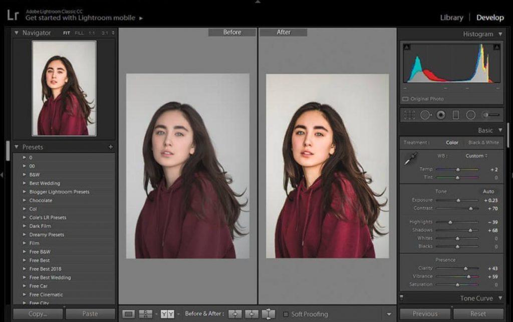 phần mềm quản lý hình ảnh Lightroom