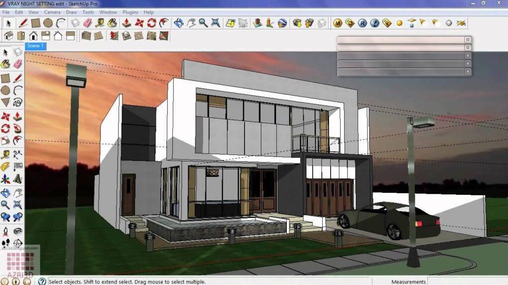 phần mềm thiết kế sơ đồ Sketchup 3D