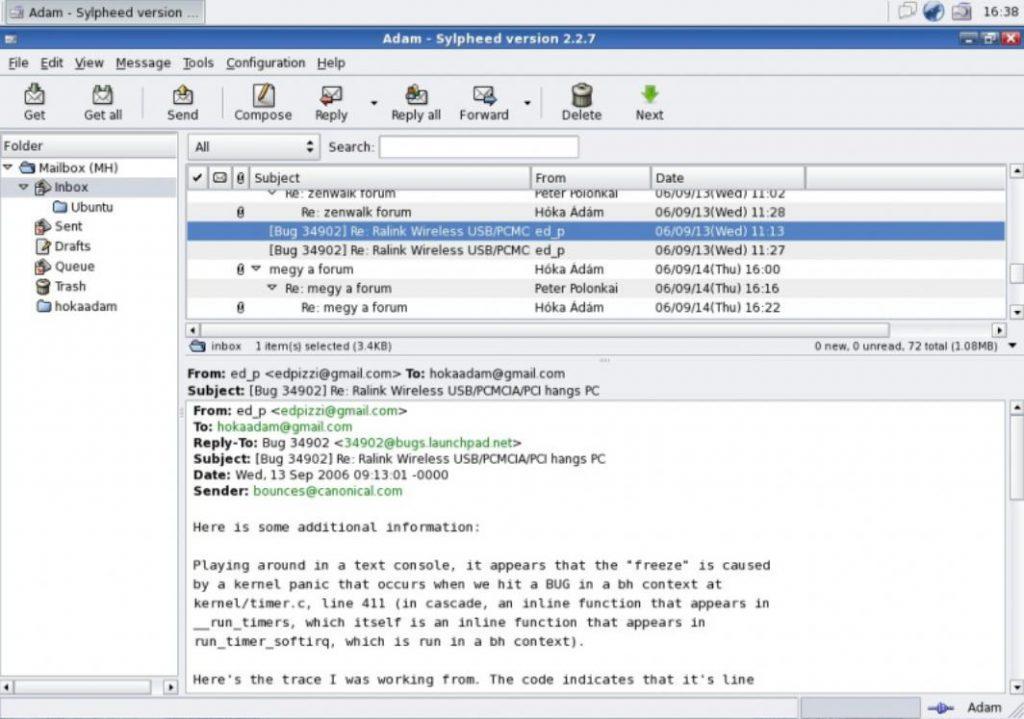 phần mềm Sylpheed