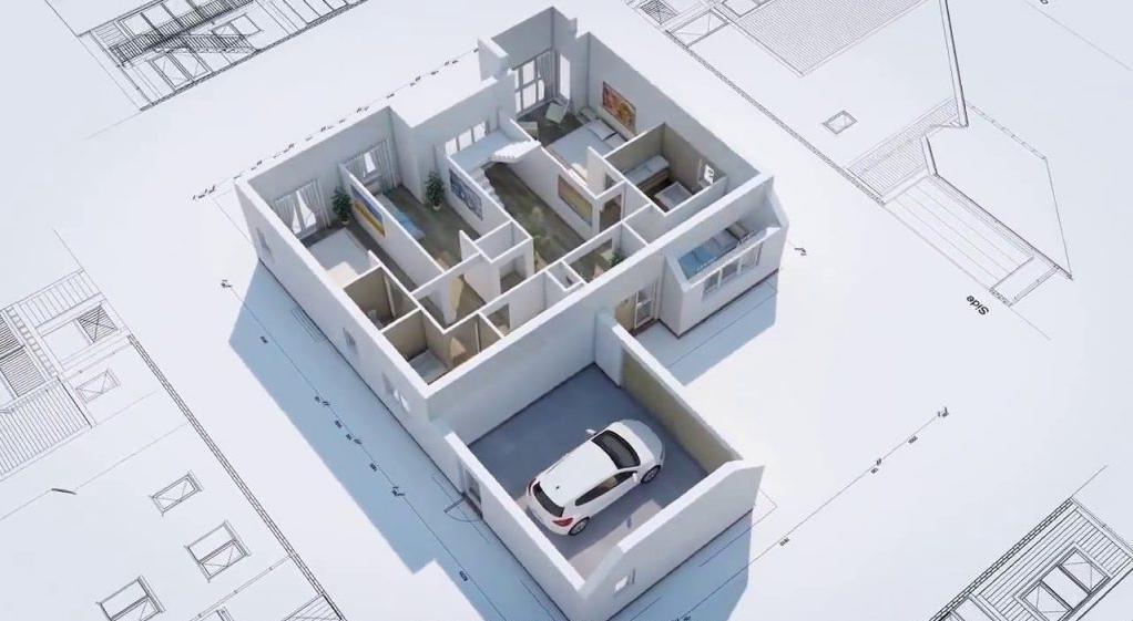 phần mềm vẽ sơ đồ nhà 3D