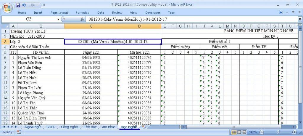 phần mềm quản lý điểm Vnedu