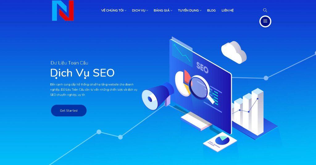 Công ty thiết kế trang web spa chuyên nghiệp Dữ Liệu Toàn Cầu