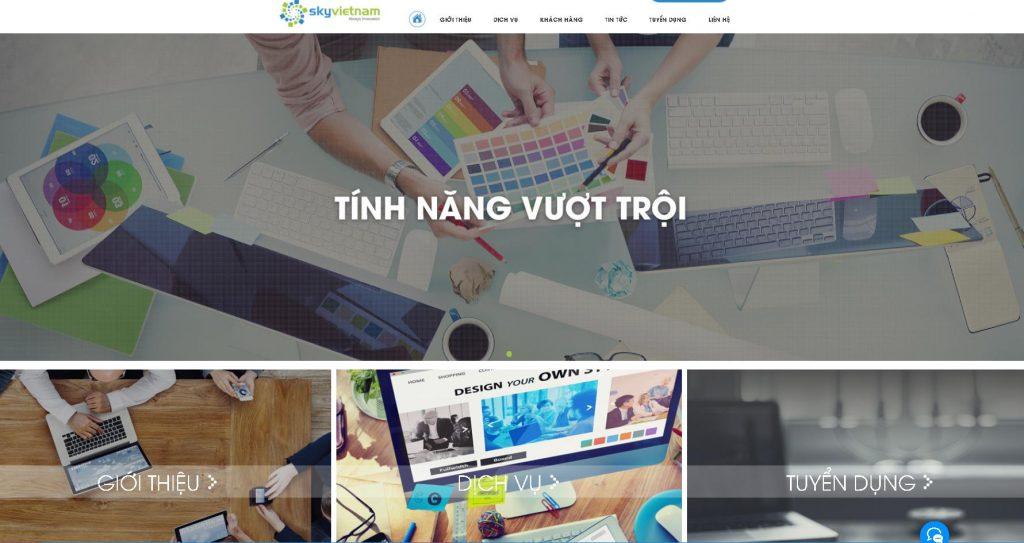 Công ty thiết kế website spa chuyên nghiệp Sky việt nam