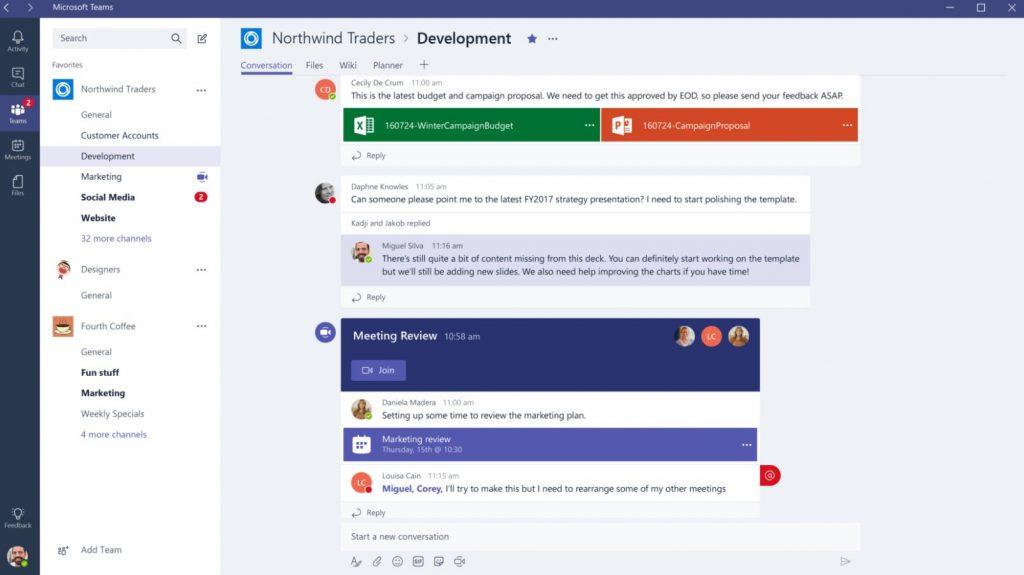 App quản lý công việc nhóm Microsoft Teams