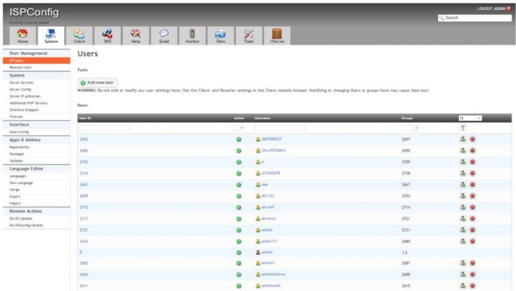 Công cụ quản lý hosting ISPConfig