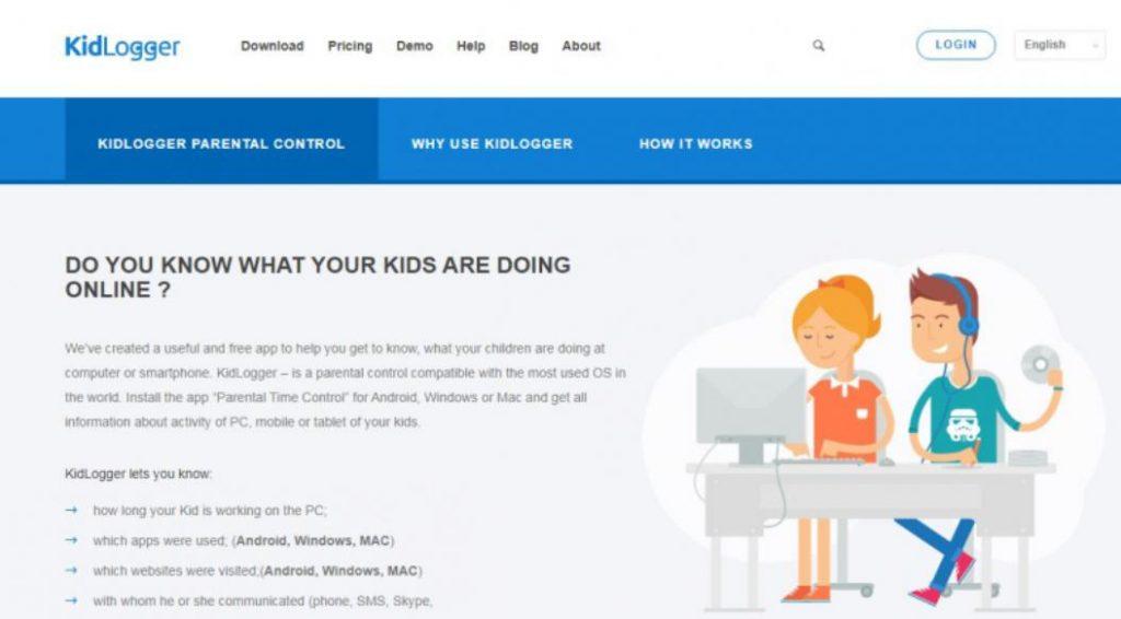 Phần mềm quản lý trẻ em Kidlogger
