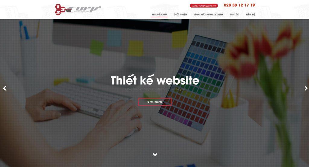 Công ty thiết kế web nhà hàng 123Corp