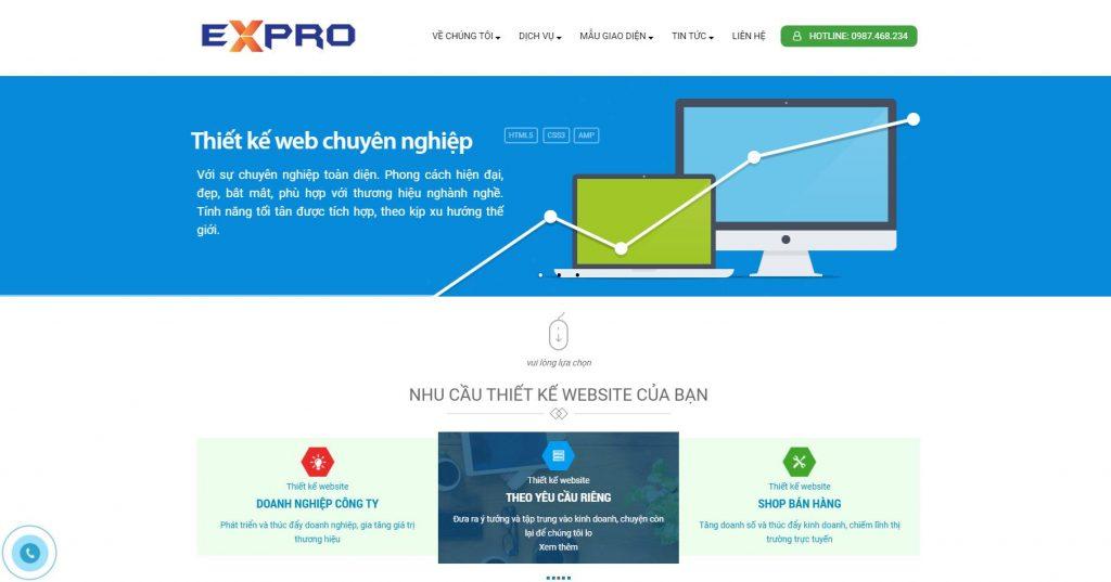Đơn vị làm website chuẩn SEO Expro Việt Nam