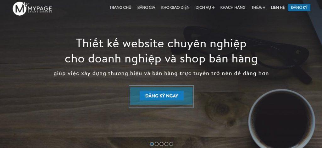 Công ty thiết kế website chuyên nghiệp Mypage