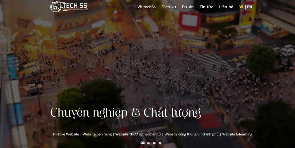 Dịch vụ thiết kế website học trực tuyến chuyên nghiệp Tech5S