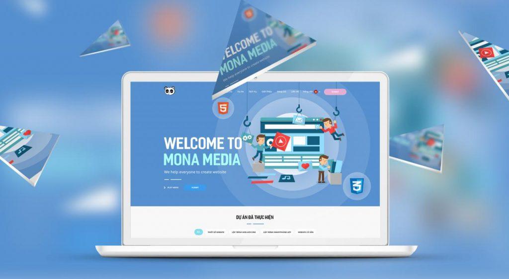 Thiết kế website học trực tuyến tại dịch vụ thiết kế Mona Media