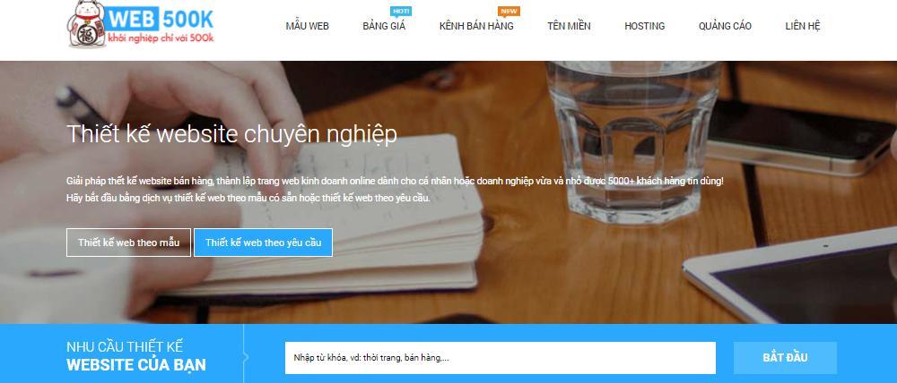 Công ty thiết kế web giá rẻ 500k