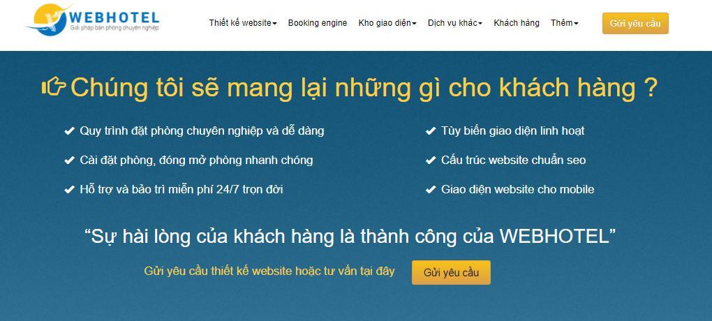 Đơn vị thiết kế web khách sạn chuyên nghiệp Webhotel