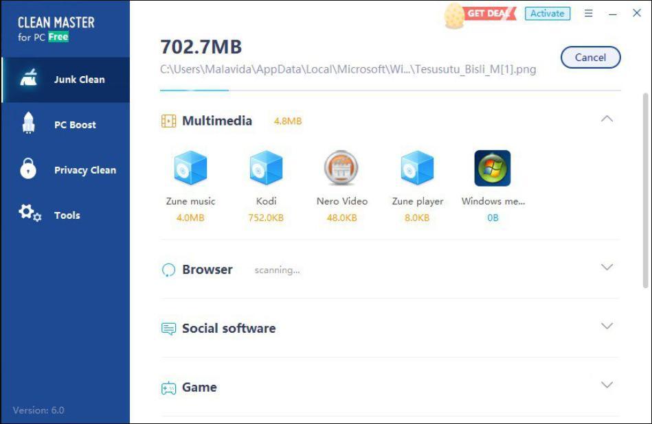 Phần mềm tối ưu máy tínhClean master