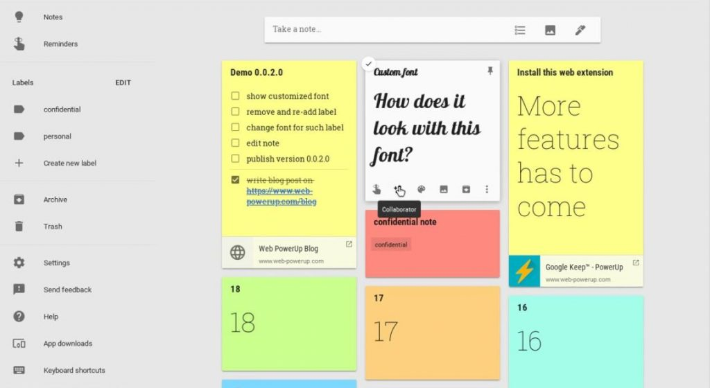 Ứng dụng quản lý thời gian - Google Keep