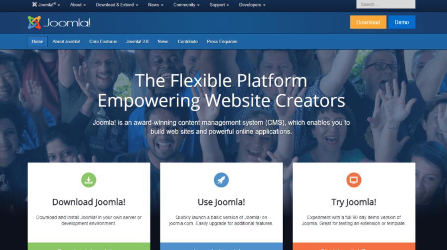 Phần mềm thiết kế web chuyên nghiệp Joomla