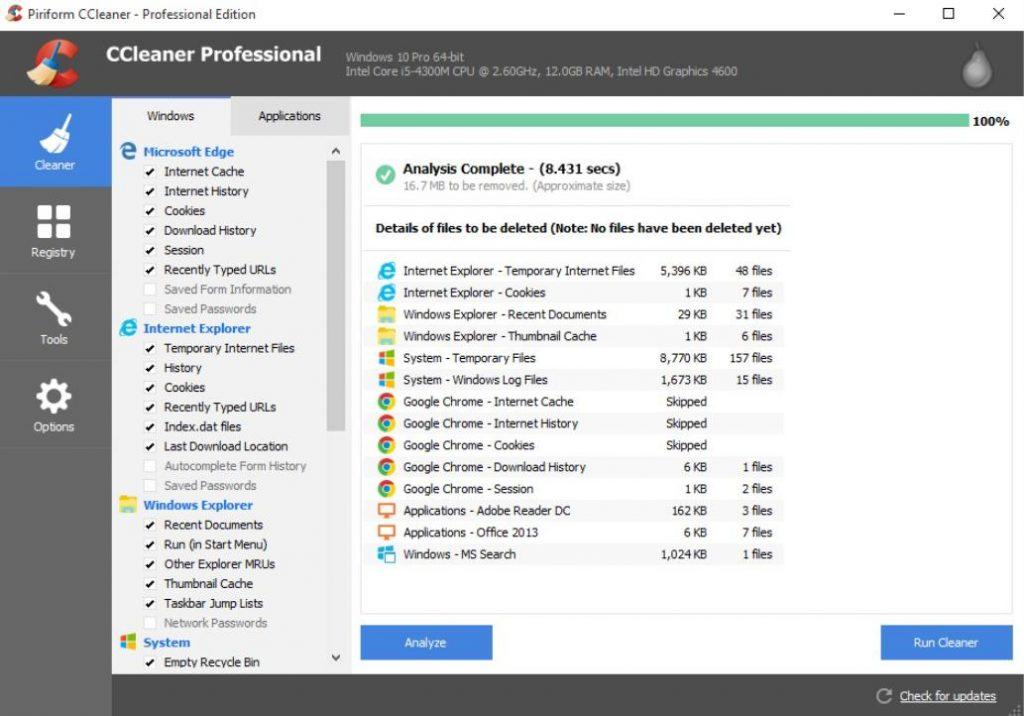 Phần mềm dọn dẹp tăng tốc máy tính Piriform CCleaner