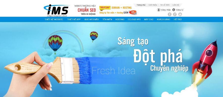 Công ty lập trình, thiết kế website IMS