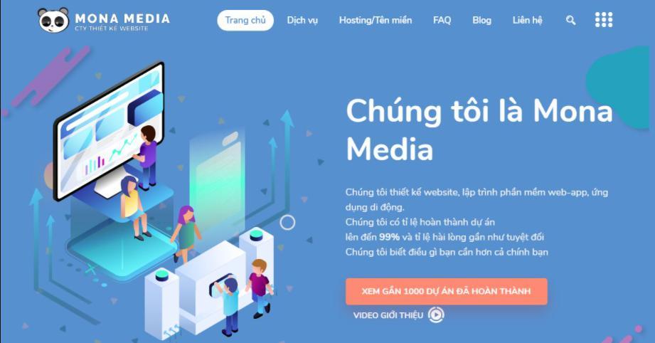 Công ty thiết kế website giá rẻ chất lượng Mona Media