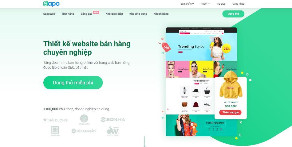 Công ty thiết kế website du lịch Sapo