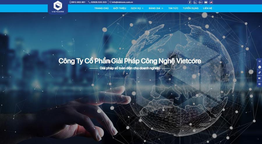 Đơn vị thiết kế website VietCore