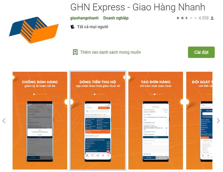 Ứng dụng giao hàng GHN Express