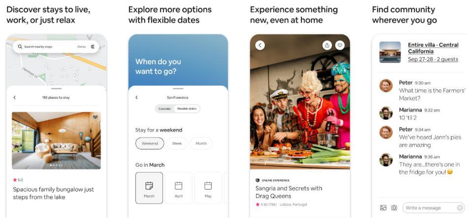 Airbnb: App đặt phòng khách sạn