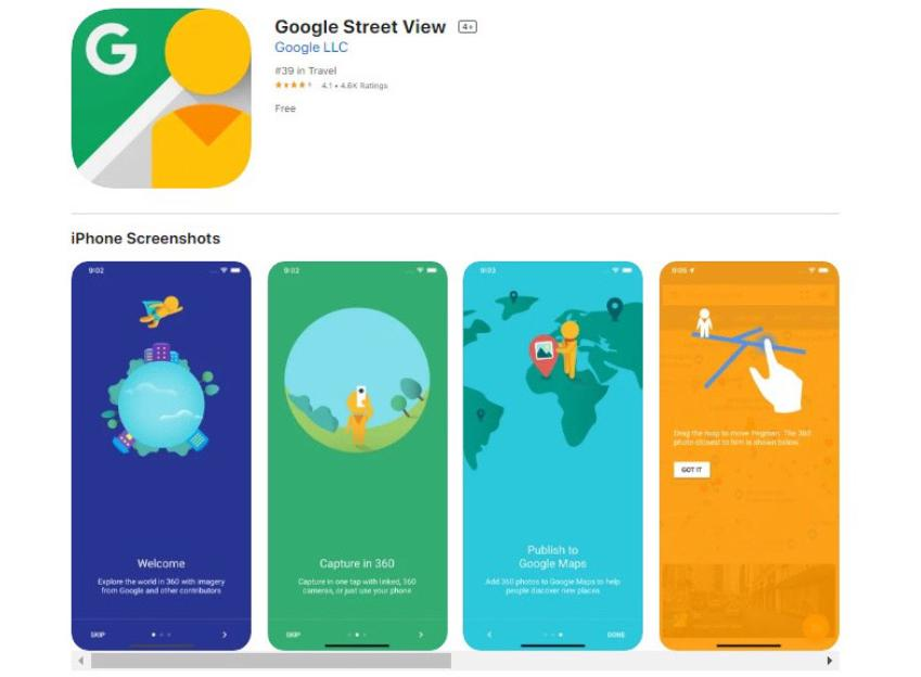 Phần mềm chụp hình 360 độ Google Street View