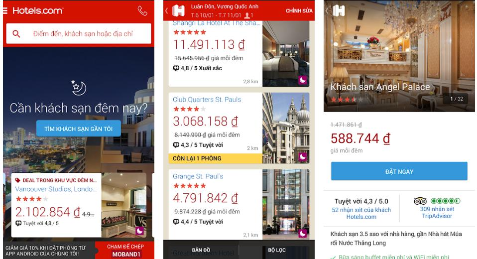 Hotels: Trang web đặt phòng khách sạn - resort trực tuyến