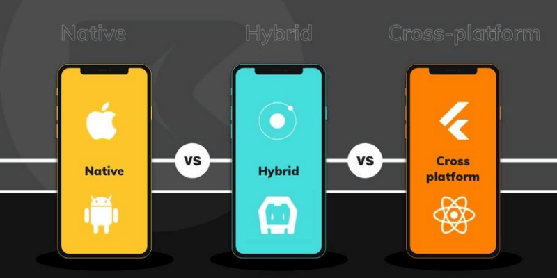 điểm khác biệt giữa native app hybrid app cross platform