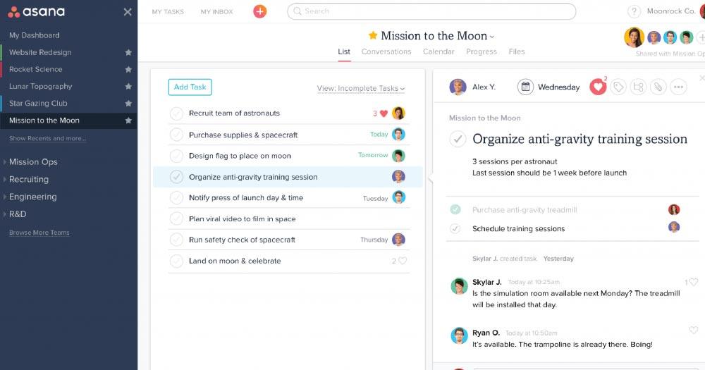 Asana- Phần mềm quản lý công việc miễn phí