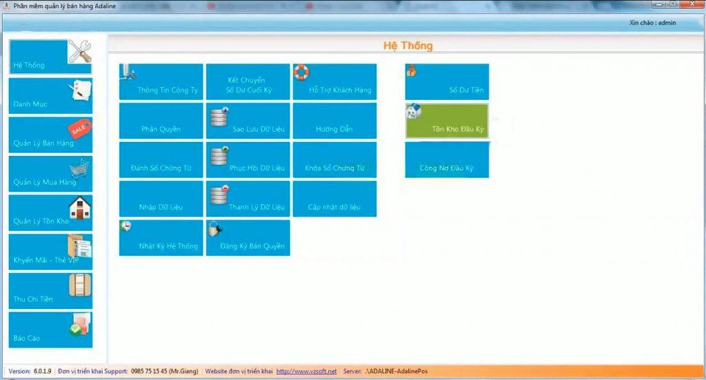 phần mềm quản lý kho Adaline