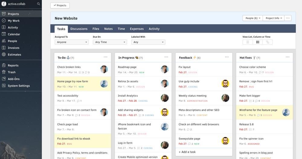 Active Collab- Công cụ quản lý dự án