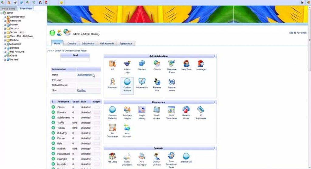 Công cụ quản lý hosting Kloxo