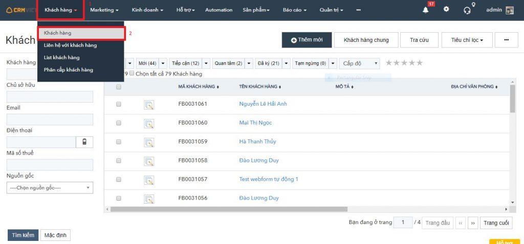 Phần mềm quản lý khách hàng miễn phí CRMVIET