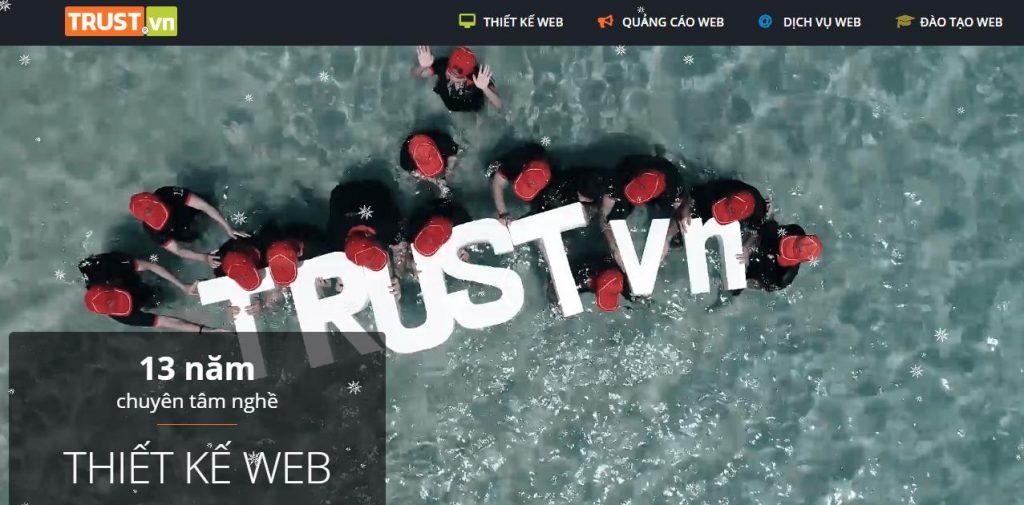Đơn vị lập trình website uy tin Trust.vn