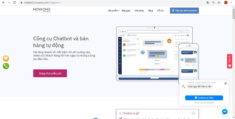 Novaonx Chatbot