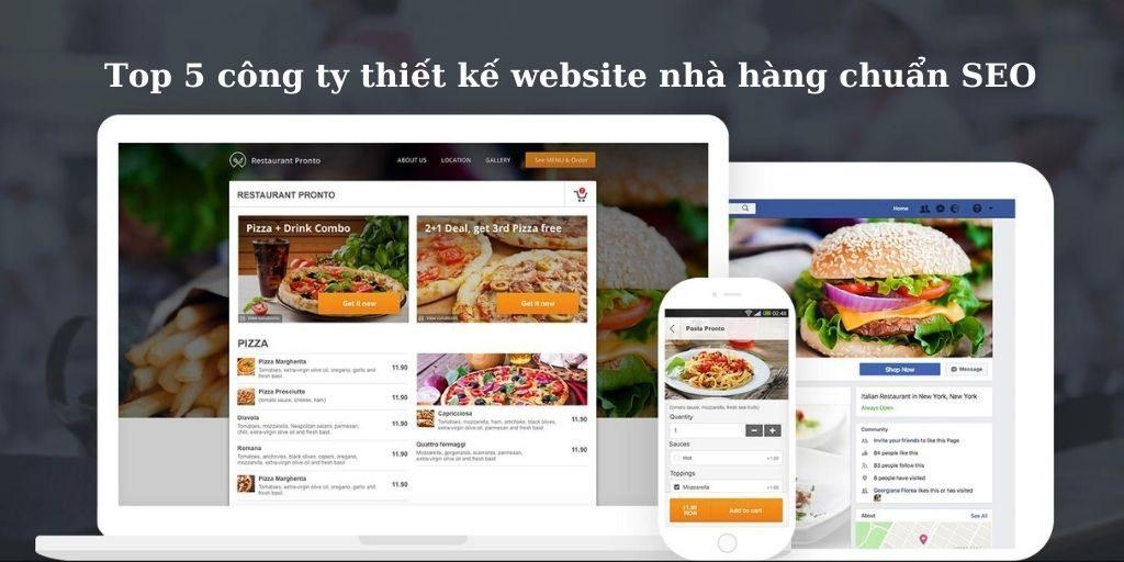Top 5 công ty thiết kế website nhà hàng chuẩn seo, uy tin