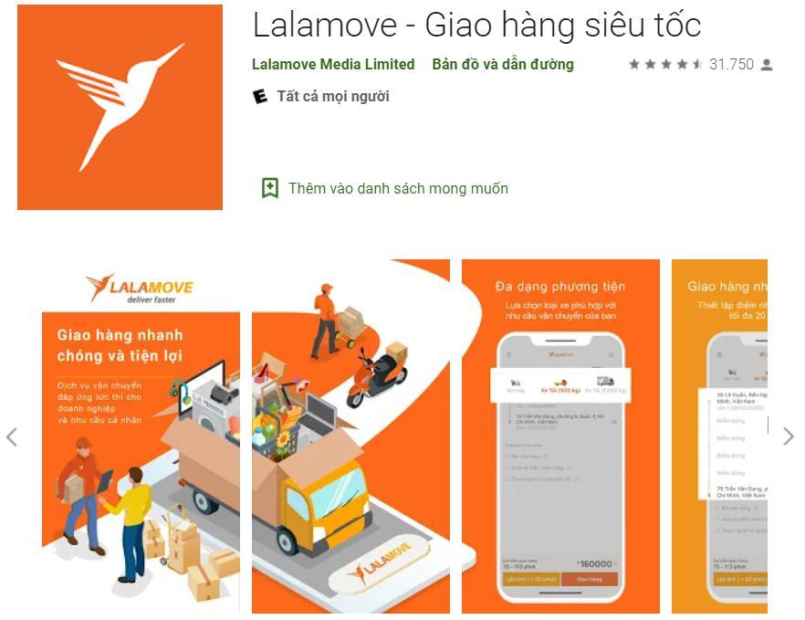 app giao hàng Lalamove