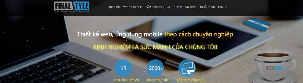 Đơn vị hiết kế website chuyên nghiệp Finalstyle