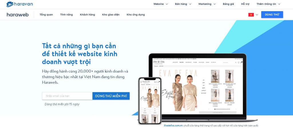 Công ty thiết kế website nội thất Haravan